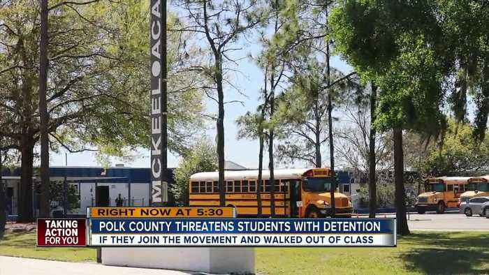 News video: Lakeland school threatens students with detention for participating in National Walkout