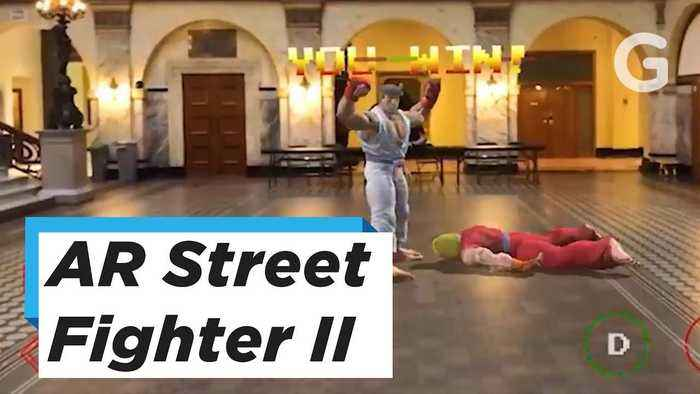 News video: AR Street Fighter II