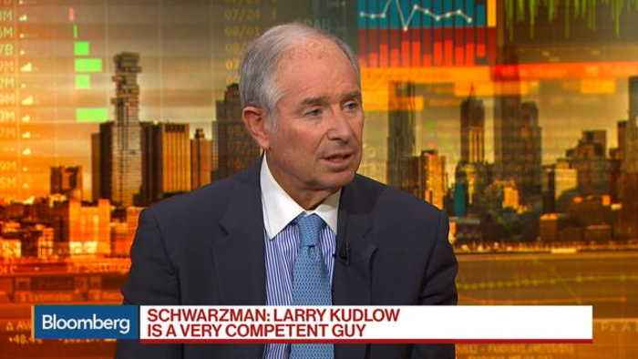 News video: Schwarzman Says Kudlow Is Very Competent, Basic Economy Doing Well