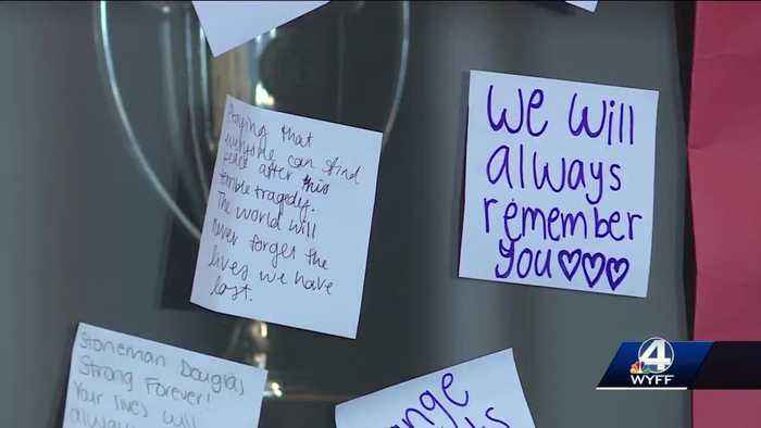 Students at Wade Hampton High School hold different kind of protest