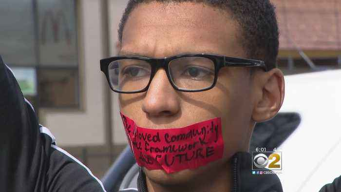 North Lawndale College Prep Students March In Silence