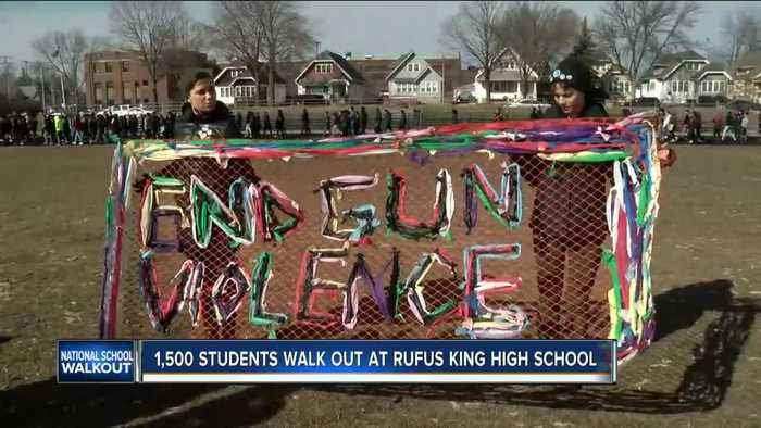 News video: 'This can't end here': Rufus King students say gun debate must continue after walkouts