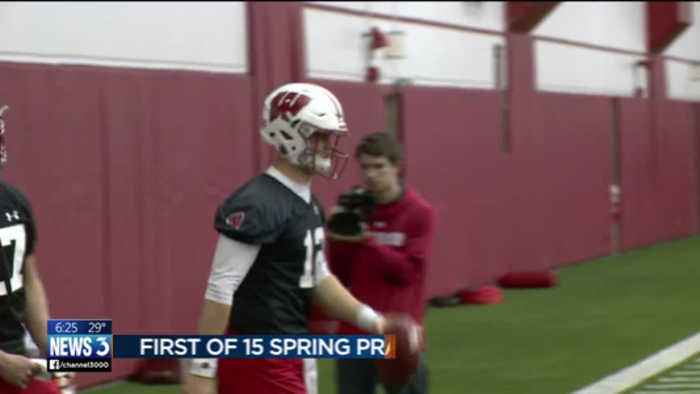 News video: Badgers begin spring football