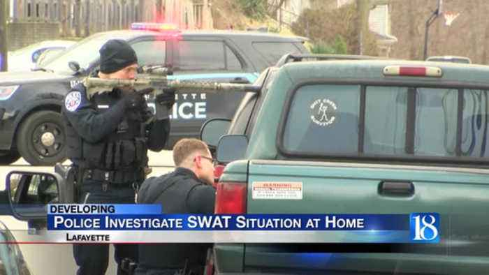 Lafayette police investigate SWAT situation at home