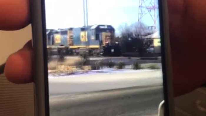 News video: Stopping a train for donuts?