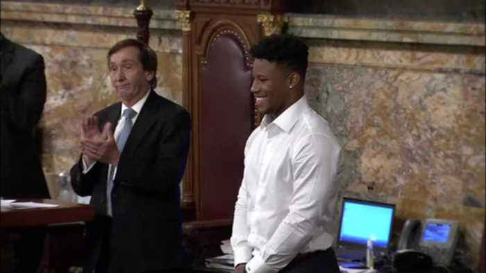 News video: VIDEO: Saquon Barkley Day