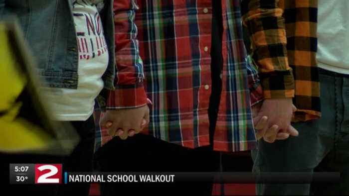 News video: Local students walk out movement