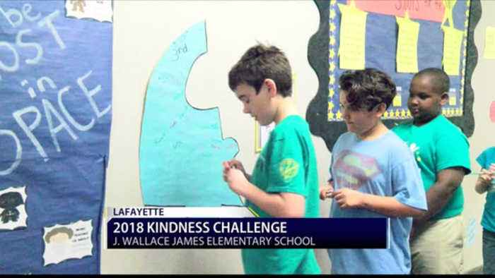 News video: J. Wallace James Elem. Participates in Kindness Challenge