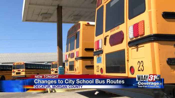 News video: Decatur school buses