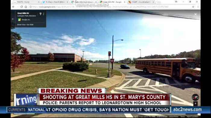Great Mills High School on lockdown after school shooting