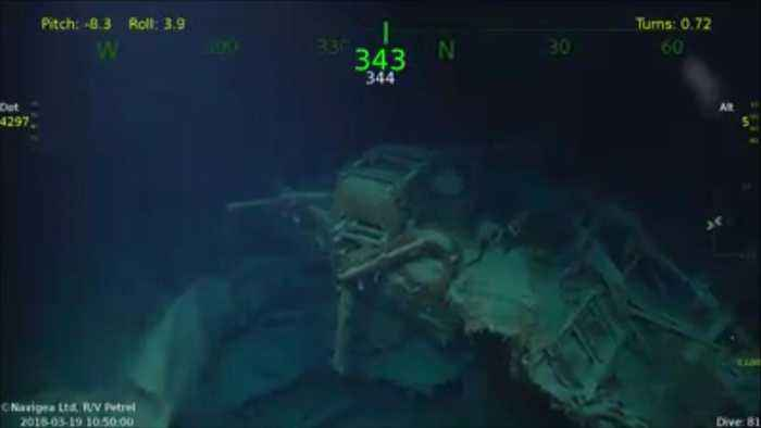 News video: Wreck of WWII Ship USS Juneau Found by Paul Allen's Research Vessel