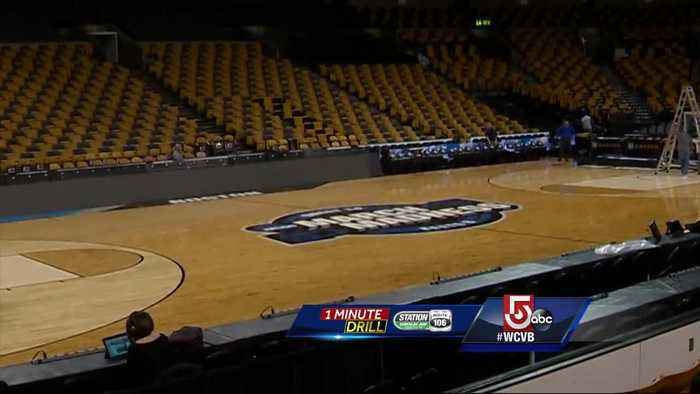 1 Minute Drill: Special floor for NCAA basketball at the TD Garden
