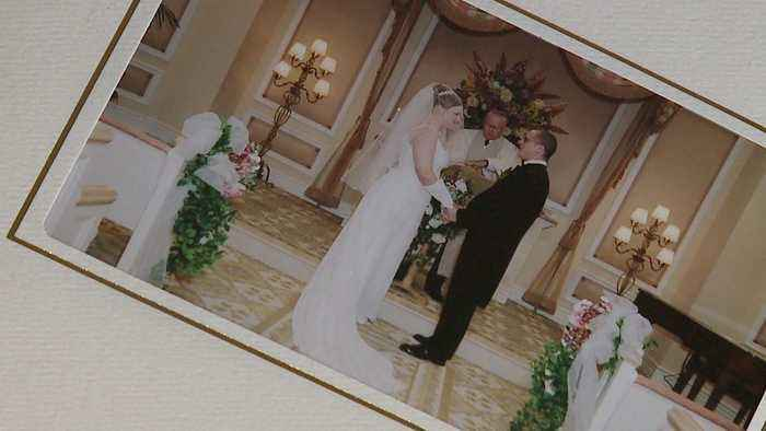 News video: Couple Finds Strangers' Wedding Album While Cleaning Apartment
