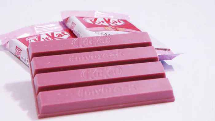 Pink KitKat hitting UK shelves