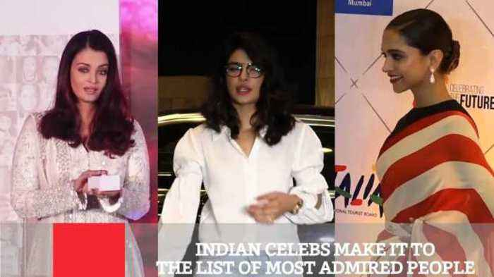 News video: Indian Celebs Make It To The List Of Most Admired People