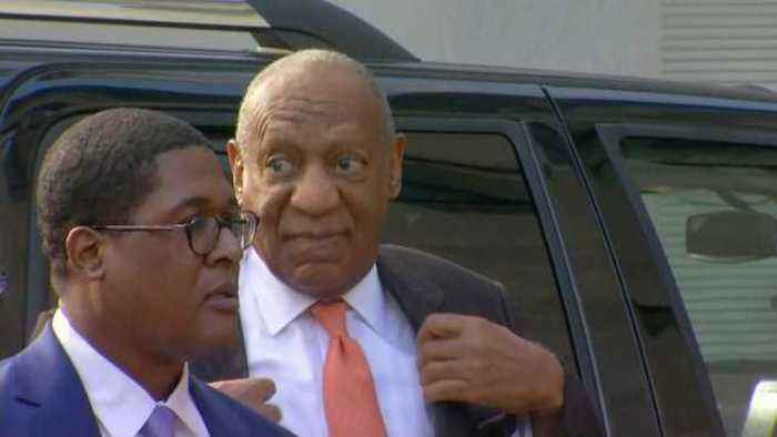 Cosby team arrives at court, main accuser to testify