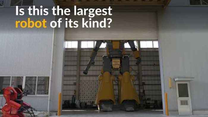 News video: Japanese designer realizes his dream by creating 28-ft robot