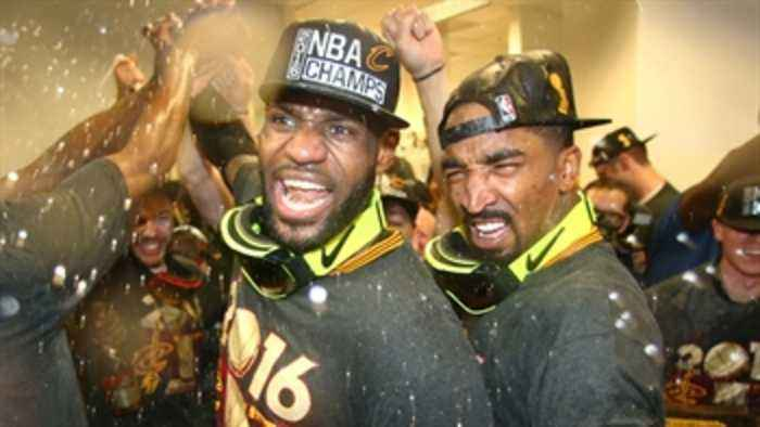 News video: Nick Wright and Cris Carter react to J.R. Smith saying LeBron passed Michael Jordan as the GOAT 2 years ago