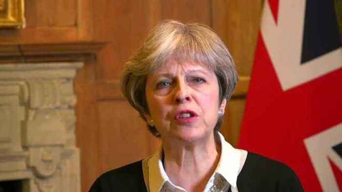 News video: UK PM May says British forces conduct targeted strike against Syria