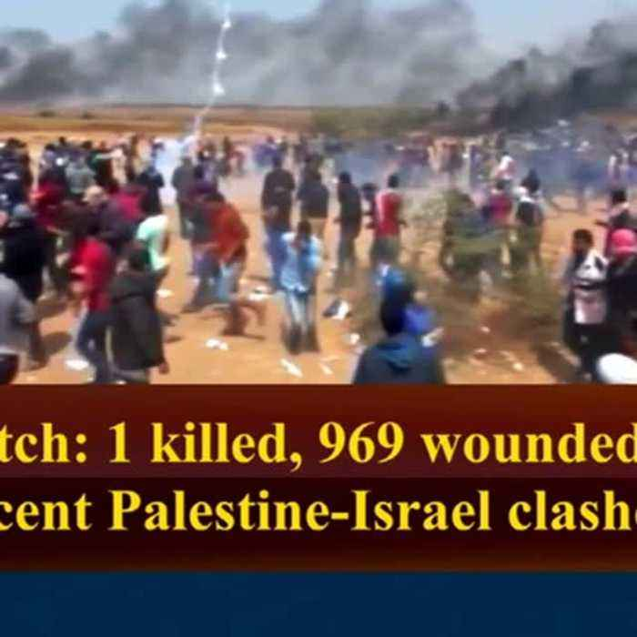 News video: Watch: 1 killed, 969 wounded in recent Palestine-Israel clashes