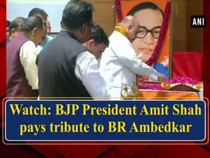 News video: Watch: BJP President Amit Shah pays tribute to BR Ambedkar
