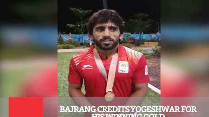 Bajrang Credits Yogeshwar For His Winning Gold