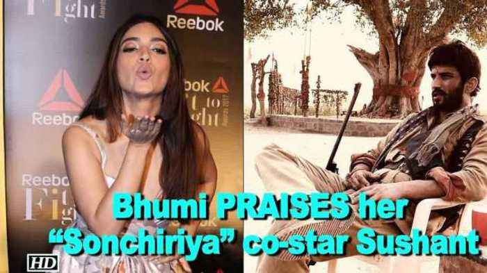 "News video: Bhumi PRAISES her ""Sonchiriya"" co-star Sushant"