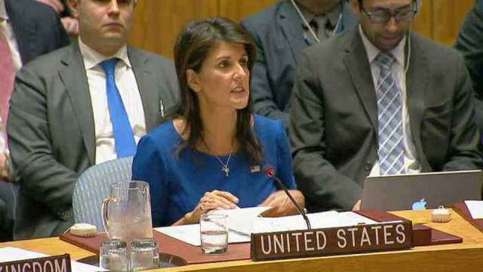 U.S. 'locked and loaded' if Syria uses toxic gas again: Haley