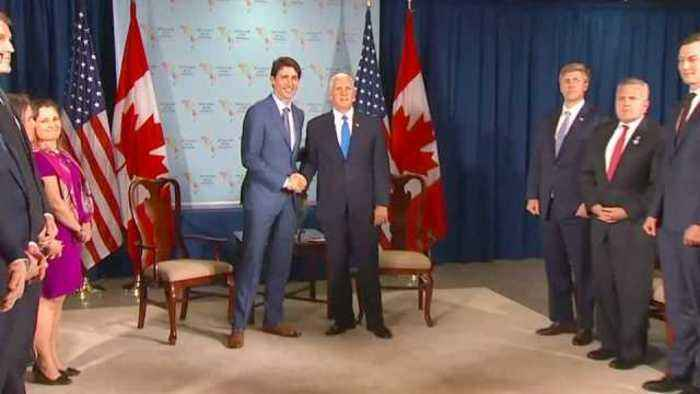 News video: Pence thanks Trudeau for support of strikes in Syria