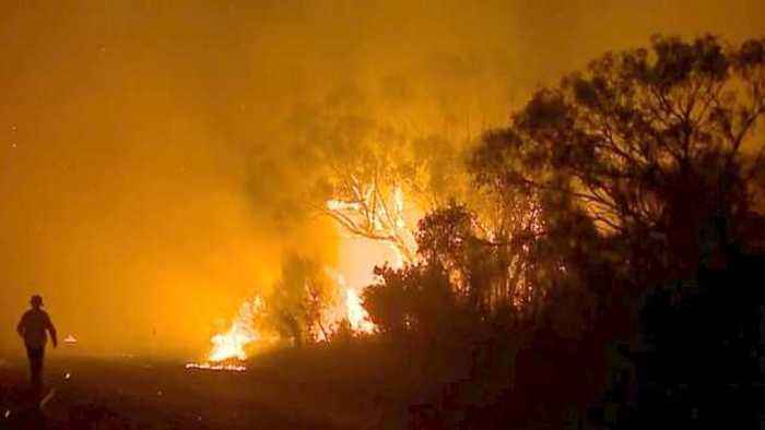 News video: Emergency warning issued as out-of-control bushfire rages across Sydney