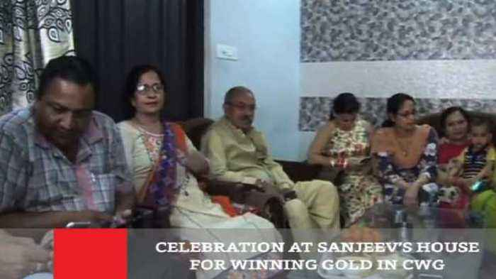 Celebration At Sanjeev's House For Winning Gold In CWG
