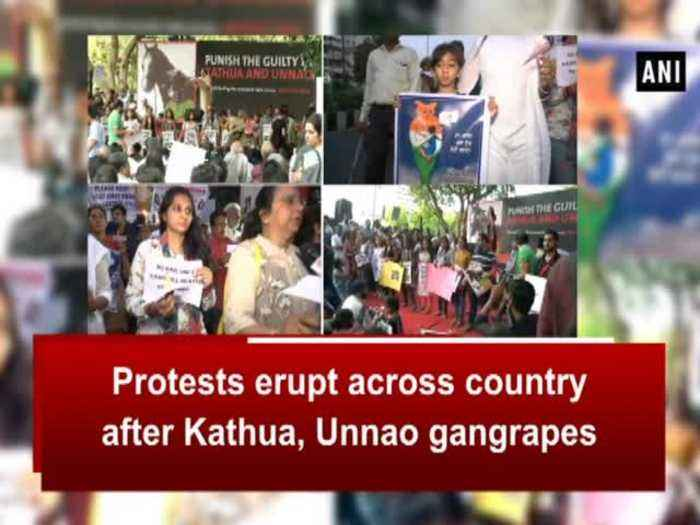 News video: Protests erupt across country after Kathua, Unnao gangrapes