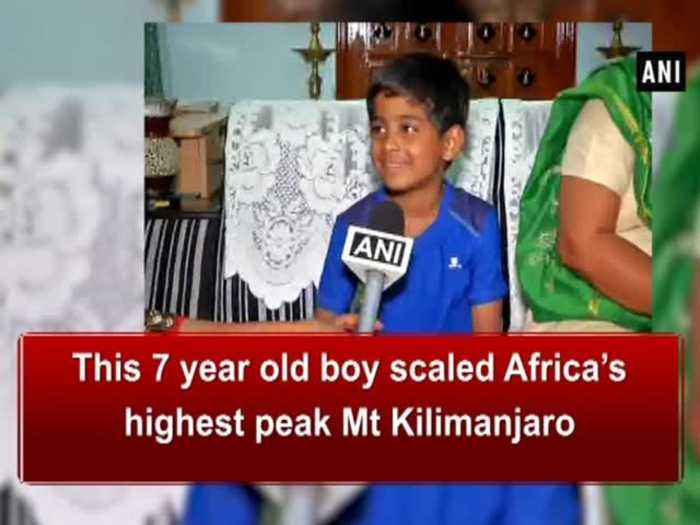 News video: This 7 year old boy scaled Africa's highest peak Mt Kilimanjaro