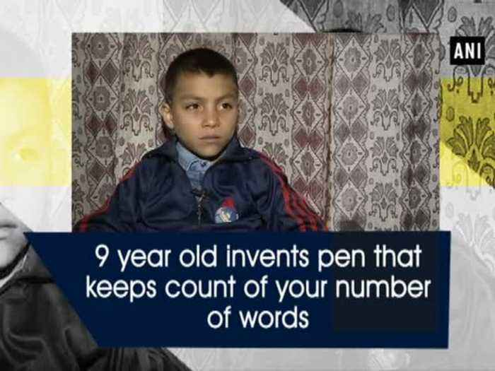 News video: 9 year old invents pen that keeps count of your number of words