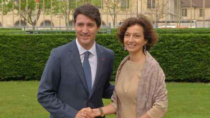 News video: Canada's Trudeau starts French visit with UNESCO meeting