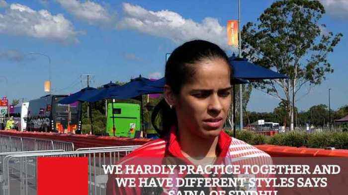 News video: We Hardly Practice Together And We Have Different Styles Says Saina On Sindhu