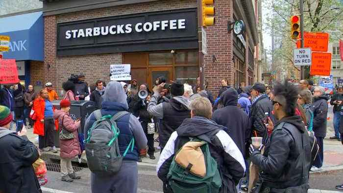 News video: Starbucks responds after outrage over black men's arrest