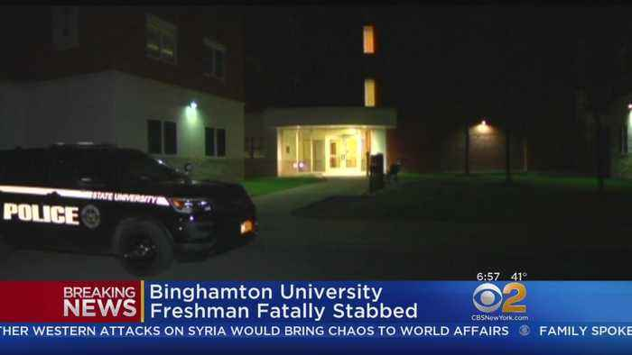 News video: Binghamton University Freshman Fatally Stabbed