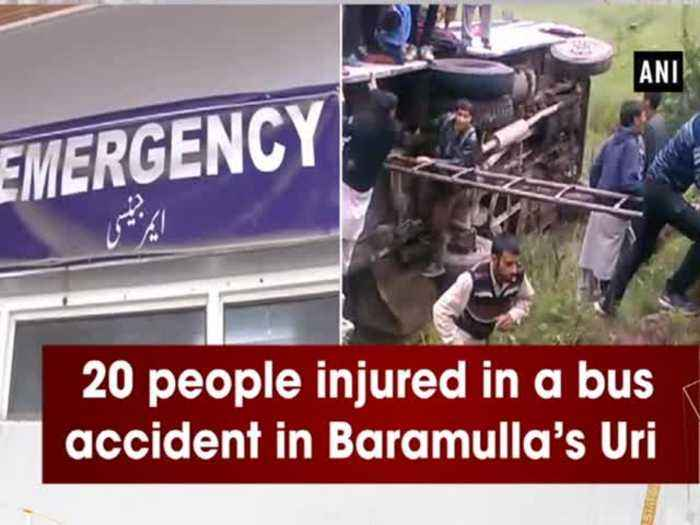 20 people injured in a bus accident in Baramulla's Uri