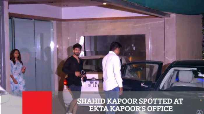 News video: Shahid Kapoor Spotted At Ekta Kapoor's Office