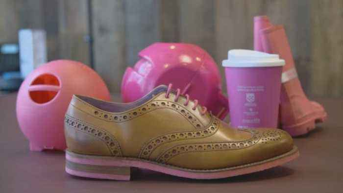 UK firm turns discarded gum into shoes, coffee cups, and combs