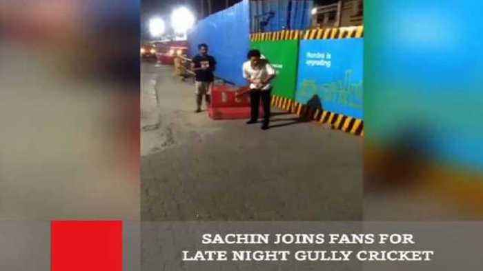 News video: Sachin Joins Fans For Late Night Gully Cricket