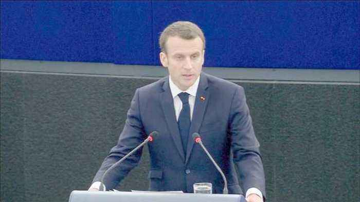 France's Macron: EU is a haven from world dangers