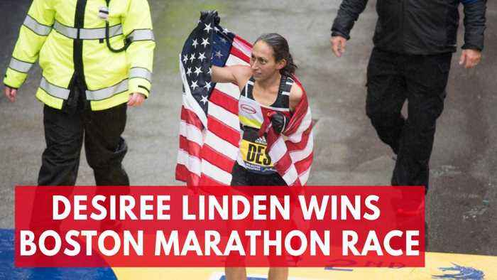 American runner Desiree Linden wins women's Boston Marathon race