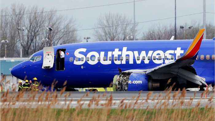 News video: Southwest Flight Makes Emergency Landing After Engine Explodes