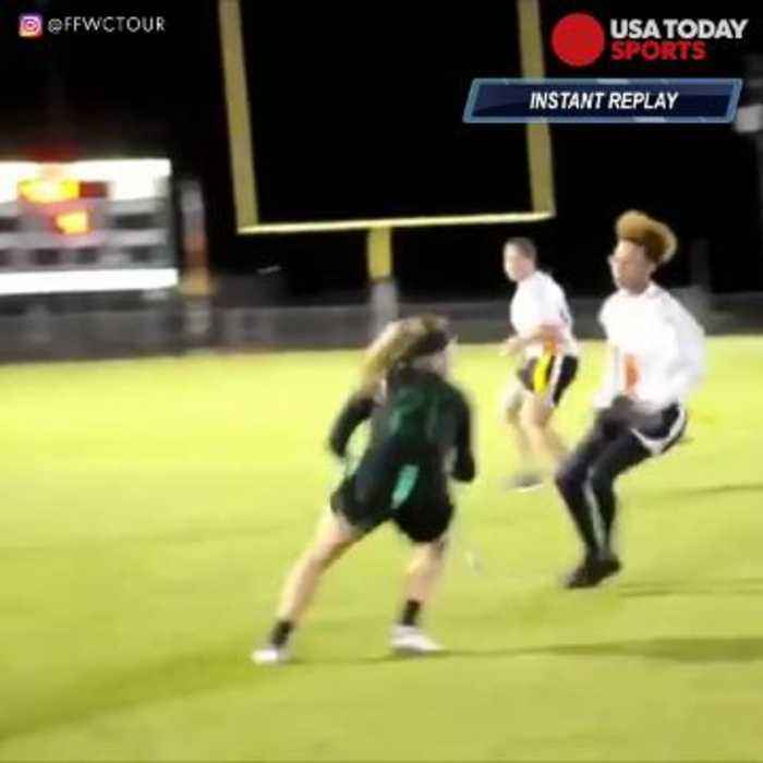 Epic cutback leads to awesome flag football touchdown run