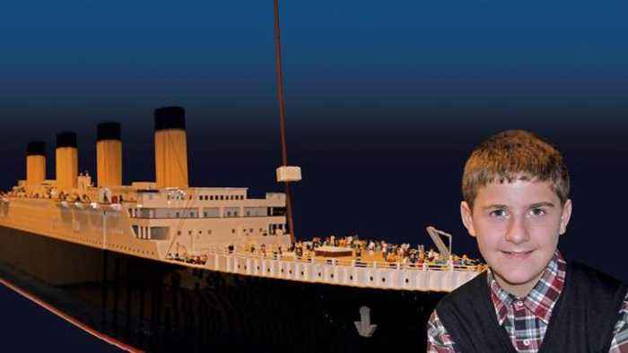15-Year-Old Boy With Autism Creates Massive Titanic Replica With Legos