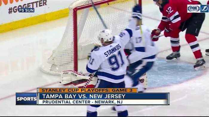 Taylor Hall has goal, 2 assists as New Jersey Devils rally past Tampa Bay Lightning 5-2