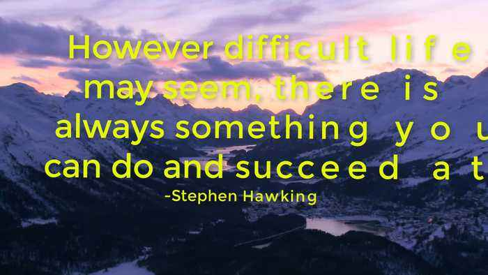 News video: My Top Five Picks of Stephen Hawkings Inspirational/Motivational Quotes on Life/Success/Intelligence