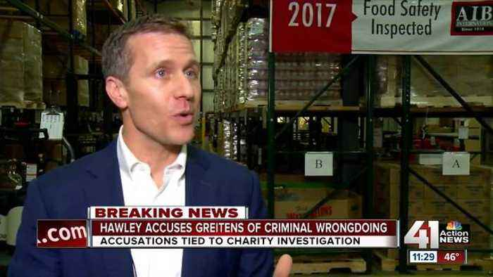 Missouri AG Hawley accuses Gov. Greitens of criminal wrongdoing